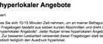 """Leserbefragung """"Lokaljournalismus"""""""