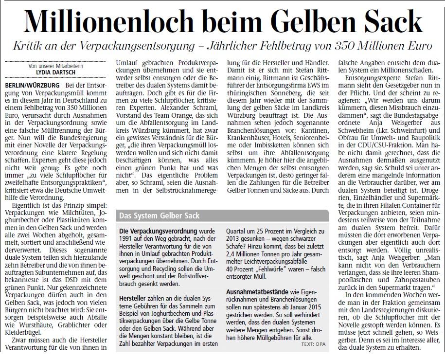 lyd_Millionenloch beim gelben Sack_Mainpost20140214